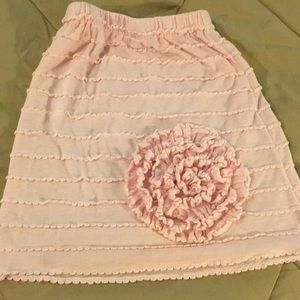 Little girls pink skirt